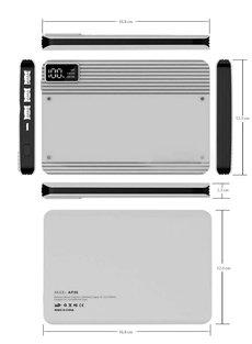 Mezone Trendy Slim Design AP20 Power bank 3USB Port 20000mAh