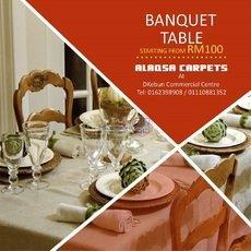 ALASQA CARPETS RECTANGLE DINING TABLE
