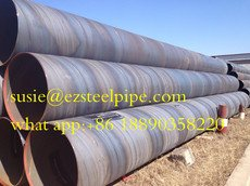 Large diameter Spiral Submerged-arc welded Steel pipe pile