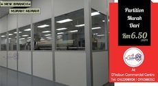 CHEAPER OFFICE PARTITION IN MALAYSIA JUST FROM RM 6.50/SF.
