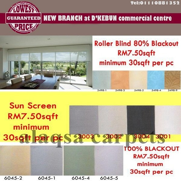 ROLLER BLINDS CHEAP AND BEST JUST FROM RM7.50/SF!