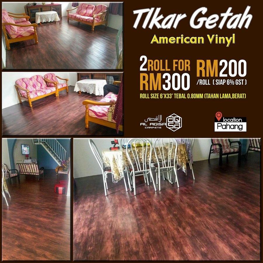 Best Flooring Tikar Getah American Vinyl Malaysia.