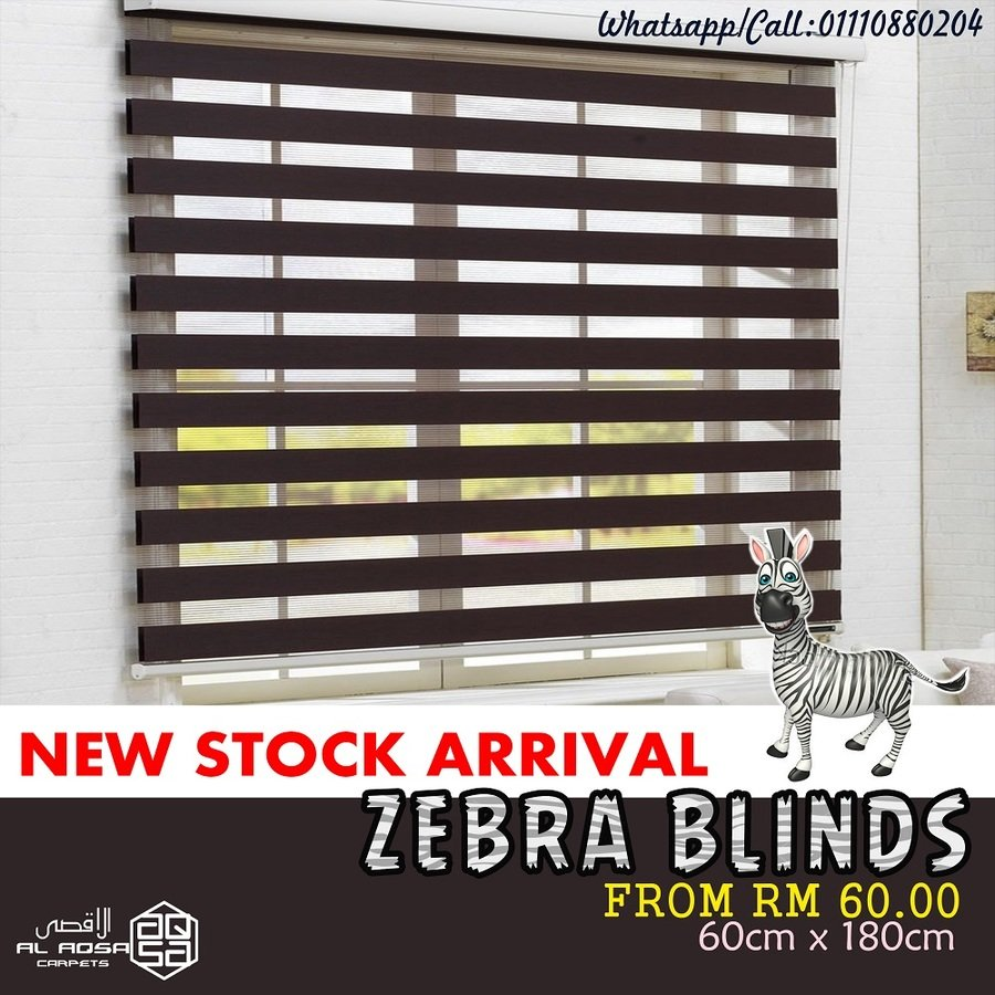BIDAI ZEBRA TINGKAP MURAH / CHEAP WINDOW ZEBRA BLINDS