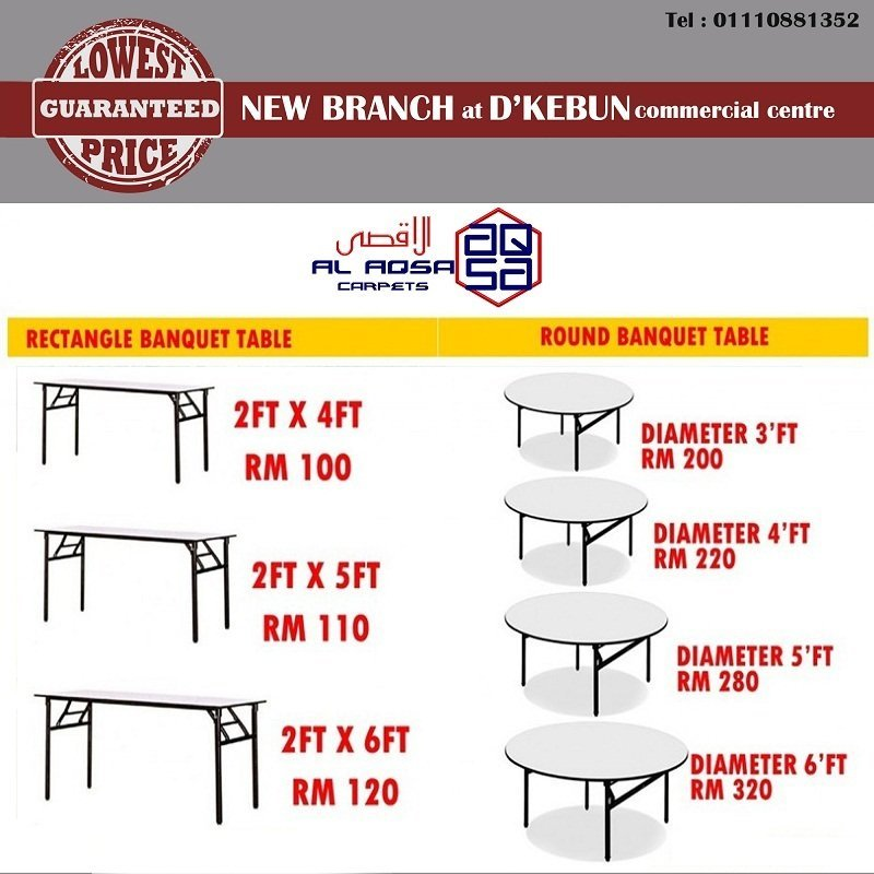 ROUND BANQUET TABLES WHOLESALER MALAYSIA