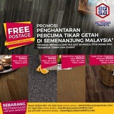 TIKAR GETAH GLORIOUS FLOORING- - FREE POSTAGE PROMOTION From the