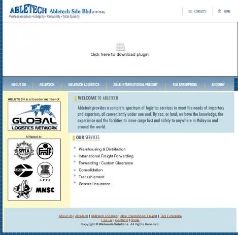 Abletech Sdn Bhd • Port Klang • Selangor Darul Ehsan • http