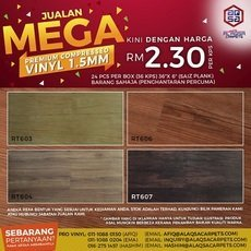 SPECIAL PROMOTION FOR WOOD VINYL - FROM ALAQSA CARPETS ONLY