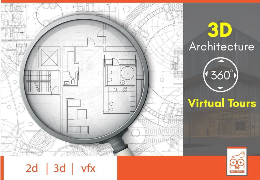 3D Architecture 360 virtual tours - Pep creations Animation Company