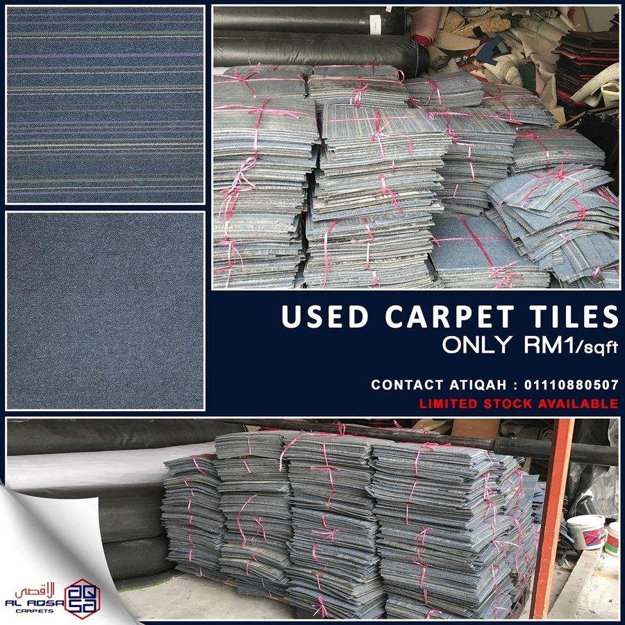 USED TILES CARPET - SQUARES CARPET UNTUK RUMAH DAN PEJABAT ANDA.