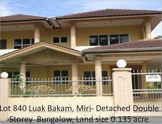 4 Br 2Sty Detached Bungalow For Sale Luak-Bakam Miri RM950k