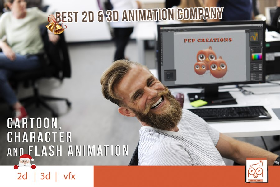 Top 2d animation outsourcing Company-Request Sample demo- pepcreations