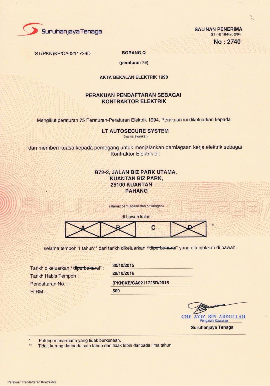 Lt Autosecure System Kuantan Pahang Darul Makmur