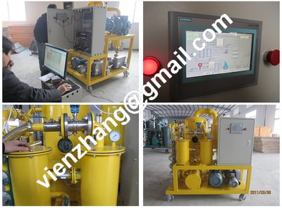 High vacuum transformer oil dehydration system